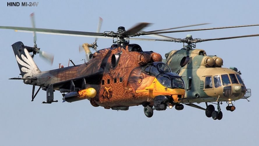 Mi-24 HIND GUNSHIP russian russia military weapon helicopter aircraft (69) wallpaper