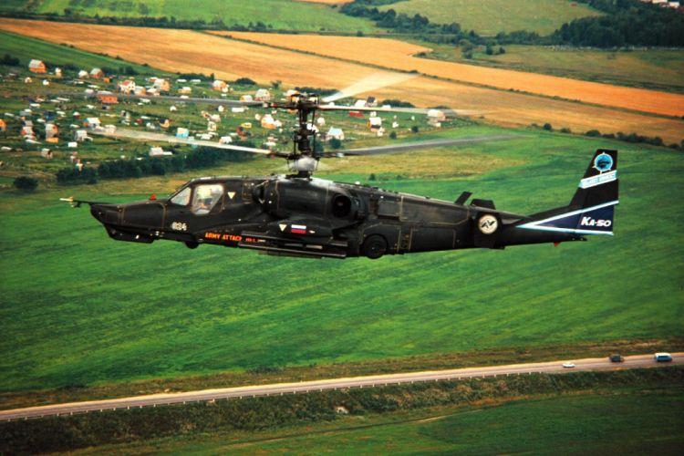 KAMOV KA-50 BLACK SHARK GUNSHIP attack helicopter military russian russia soviet weapon aircraft (1) wallpaper