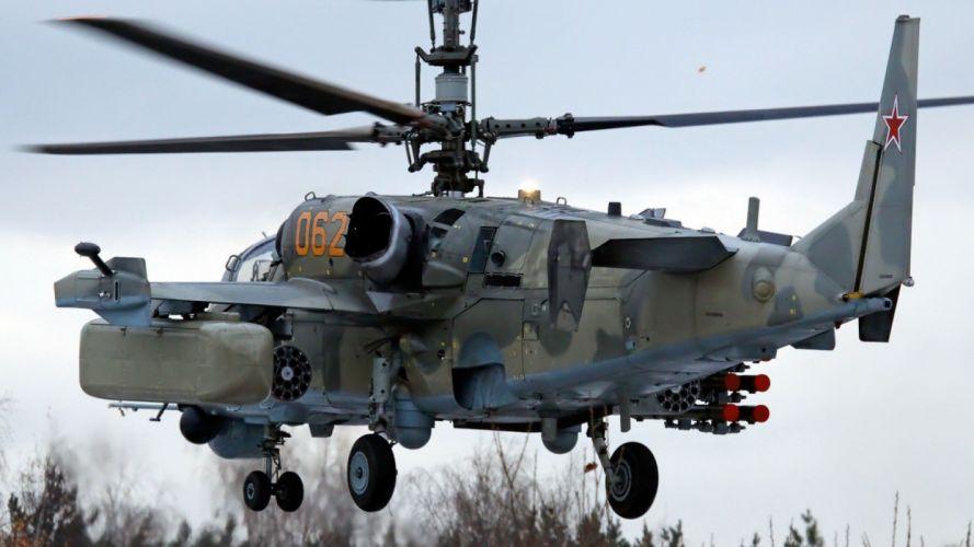 KAMOV KA-50 BLACK SHARK GUNSHIP attack helicopter military russian russia soviet weapon aircraft (5) wallpaper