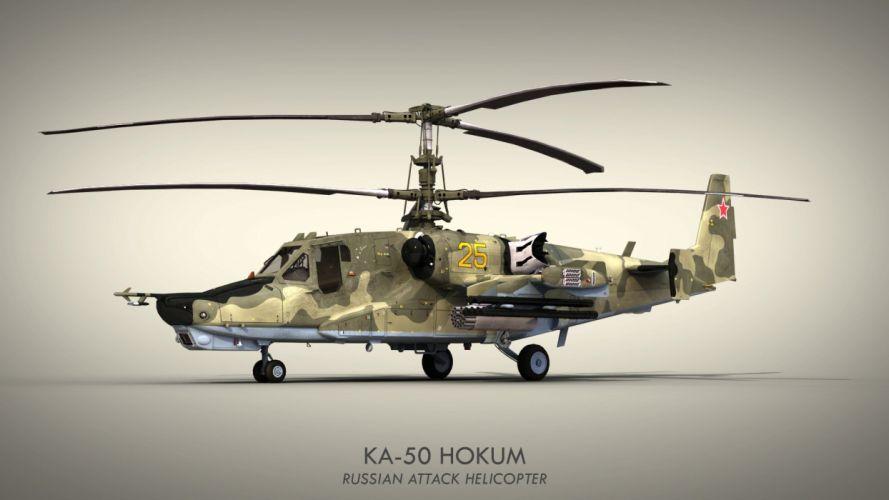 KAMOV KA-50 BLACK SHARK GUNSHIP attack helicopter military russian russia soviet weapon aircraft (14) wallpaper