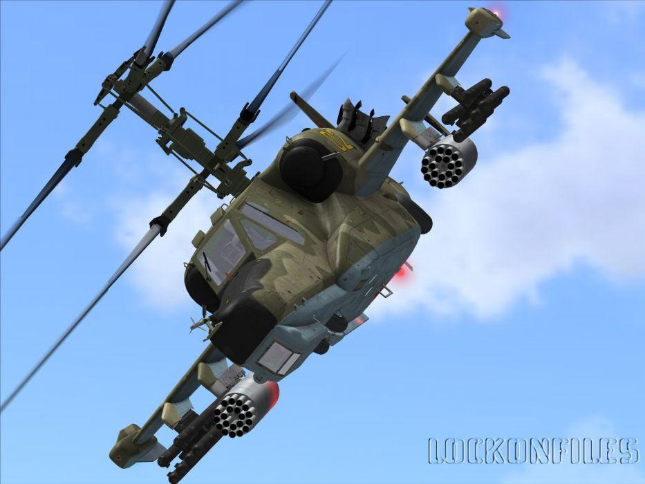 KAMOV KA-50 BLACK SHARK GUNSHIP attack helicopter military russian russia soviet weapon aircraft (11) wallpaper