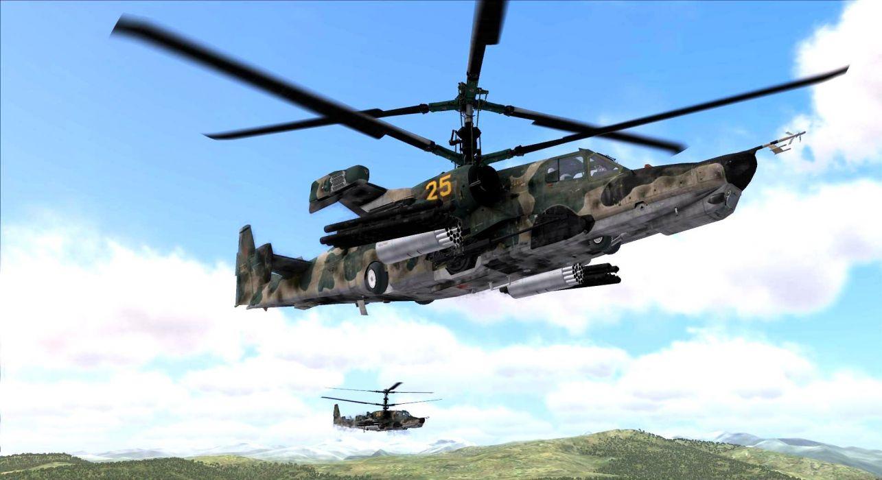 KAMOV KA-50 BLACK SHARK GUNSHIP attack helicopter military russian russia soviet weapon aircraft (9) wallpaper