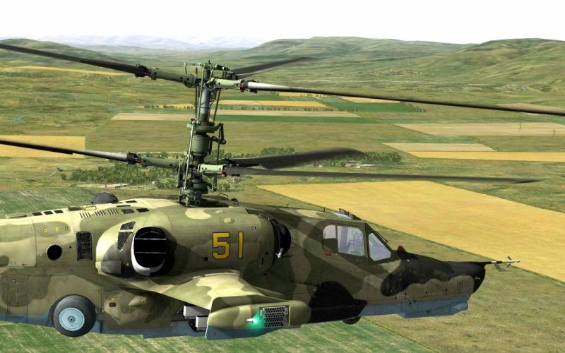 KAMOV KA-50 BLACK SHARK GUNSHIP attack helicopter military russian russia soviet weapon aircraft (33) wallpaper