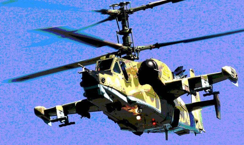 KAMOV KA-50 BLACK SHARK GUNSHIP attack helicopter military russian russia soviet weapon aircraft (30) wallpaper