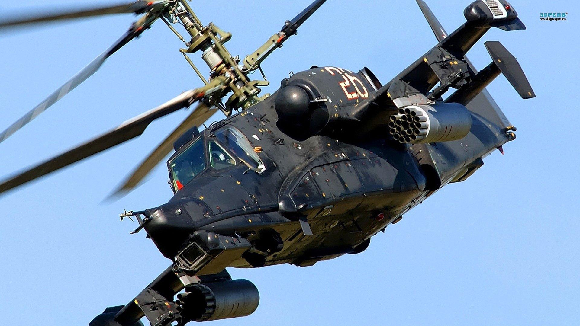KAMOV KA-50 BLACK SHARK GUNSHIP attack helicopter military ...