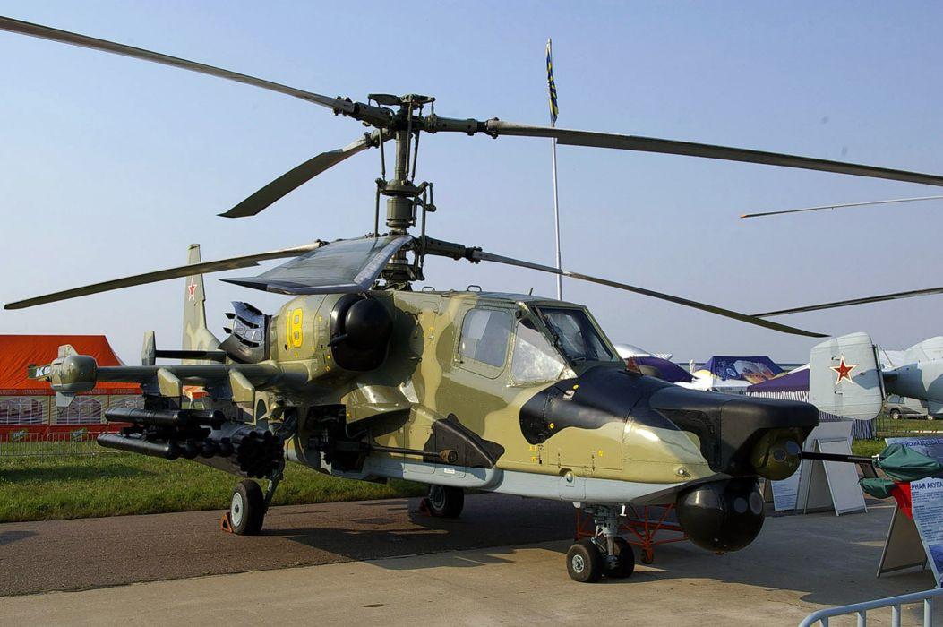 KAMOV KA-50 BLACK SHARK GUNSHIP attack helicopter military russian russia soviet weapon aircraft (21) wallpaper