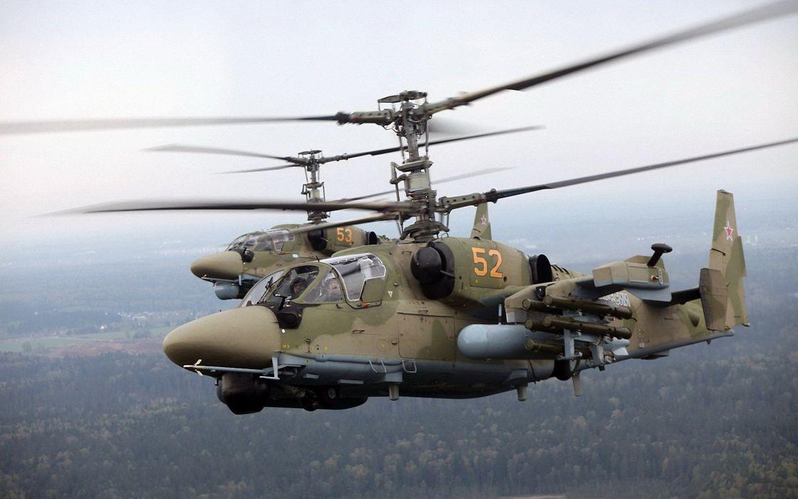 KAMOV KA-50 BLACK SHARK GUNSHIP attack helicopter military russian russia soviet weapon aircraft (54) wallpaper