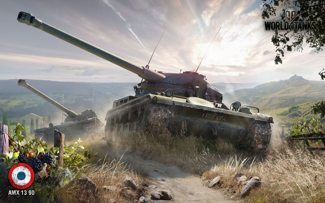 amx 13 90 world of tanks-wide wallpaper