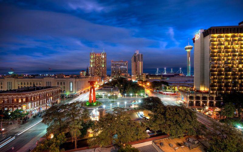 cityscapes Texas San Antonio wallpaper
