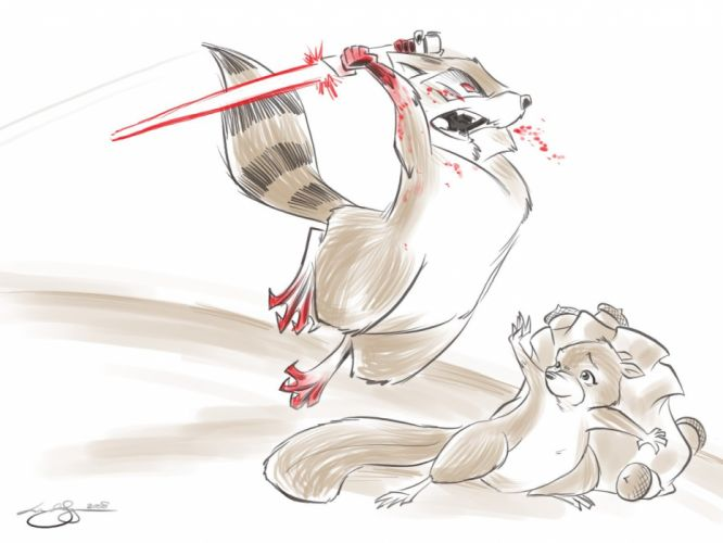 lightsabers raccoons Least I Could Do Ryan Sohmer Lar Desouza wallpaper