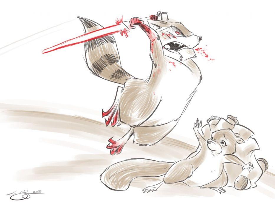 lightsabers raccoons Least I Could Do Ryan Sohmer Lar Desouza wallpaper