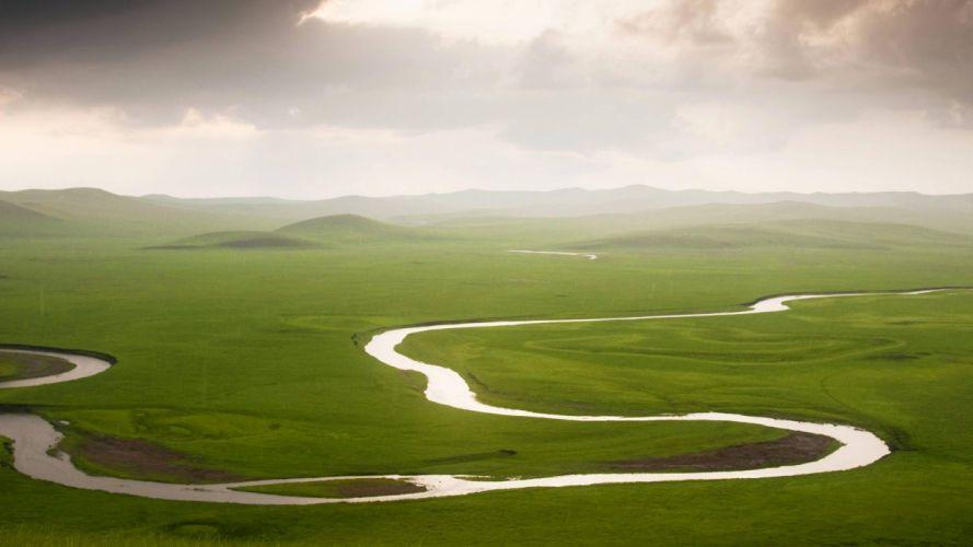 landscapes China rivers wallpaper
