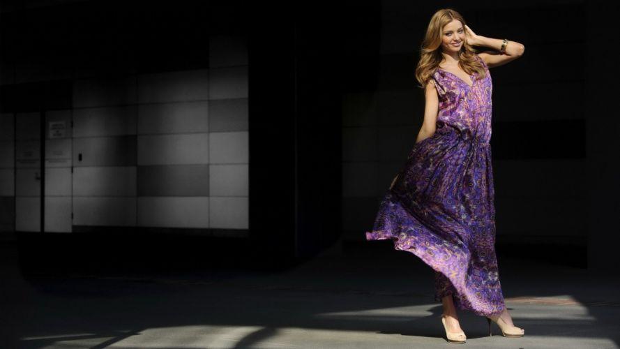 blondes women Miranda Kerr models wallpaper
