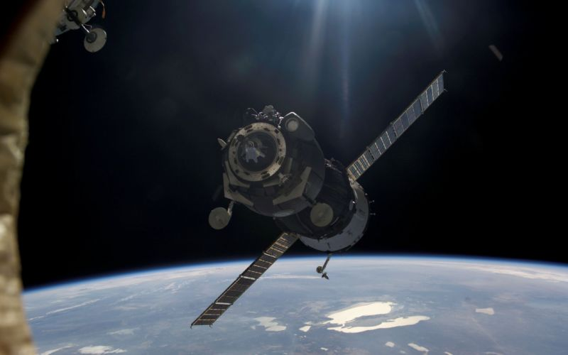 outer space technology satellite wallpaper