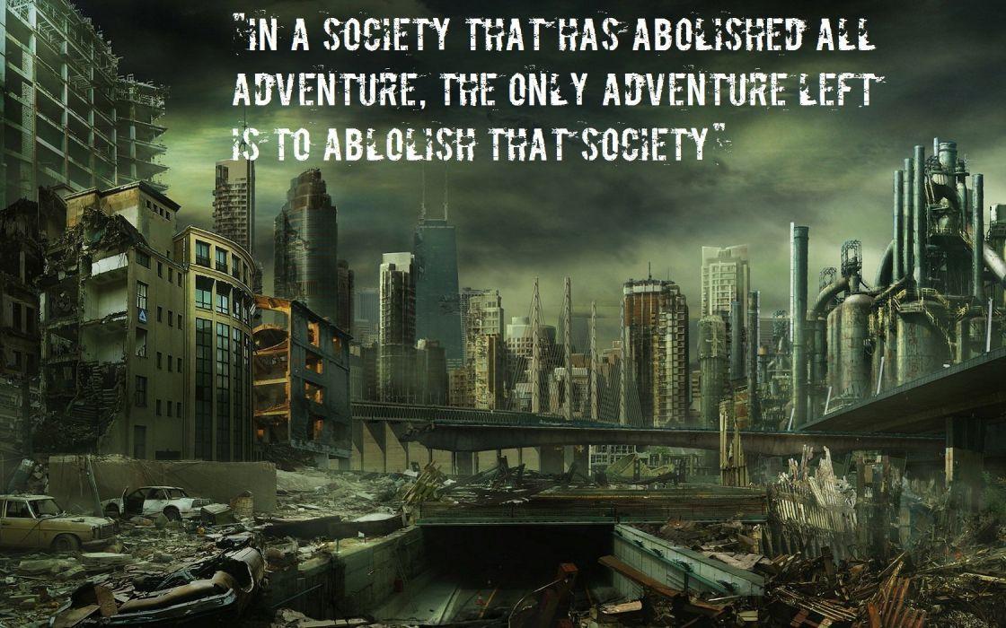 ruins post-apocalyptic apocalypse wallpaper