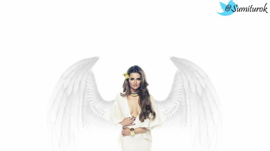 angels wings Stana Katic wallpaper