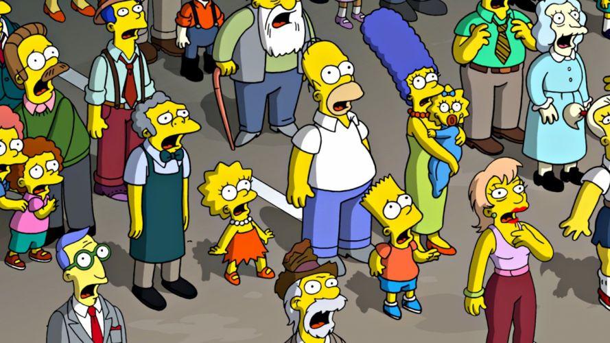 Homer Simpson The Simpsons Bart Simpson Lisa Simpson Ned Flanders Marge Simpson Maggie Simpson Rod and Todd Flanders Moe Szyslak wallpaper