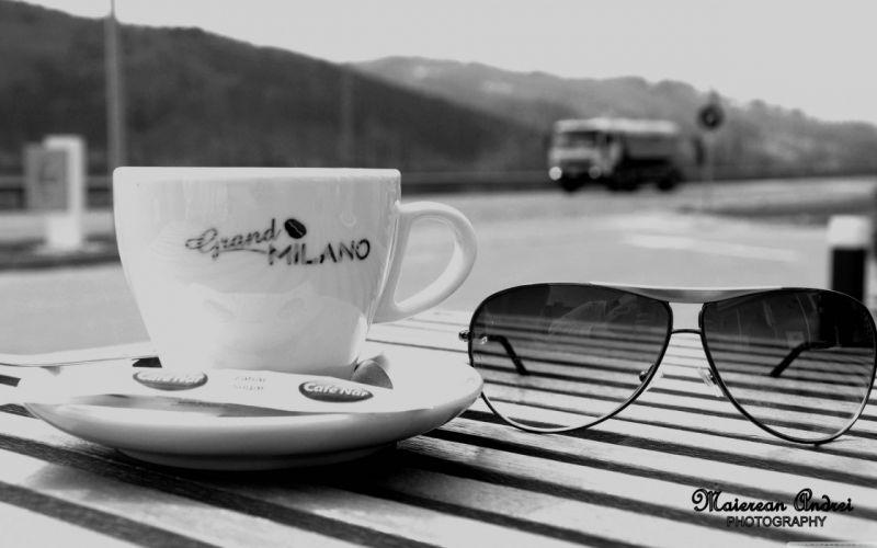 coffee glasses boats vehicles sea wallpaper