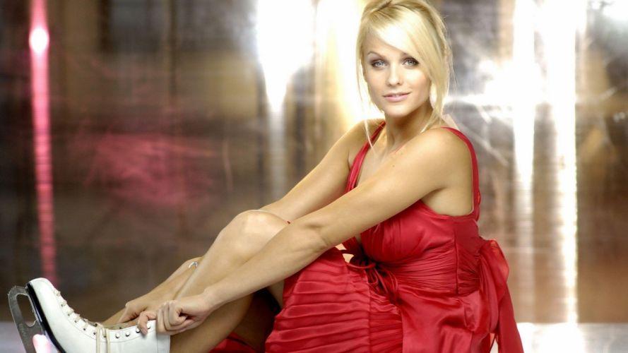 blondes women models skates wallpaper