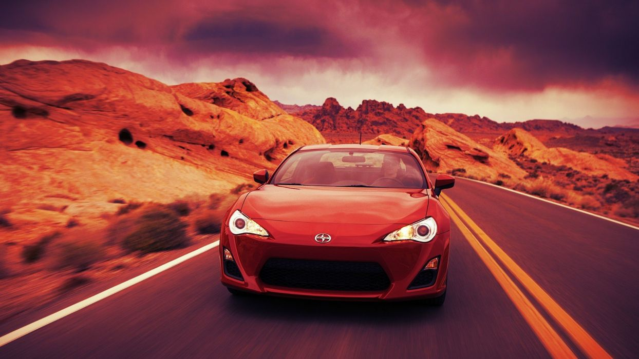 red cars Scion Scion FR-S wallpaper