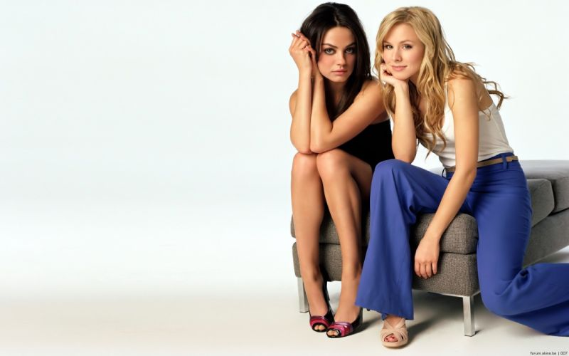 women Mila Kunis Kristen Bell actress wallpaper