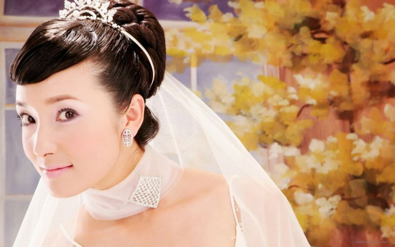 women autumn brides Asians wallpaper