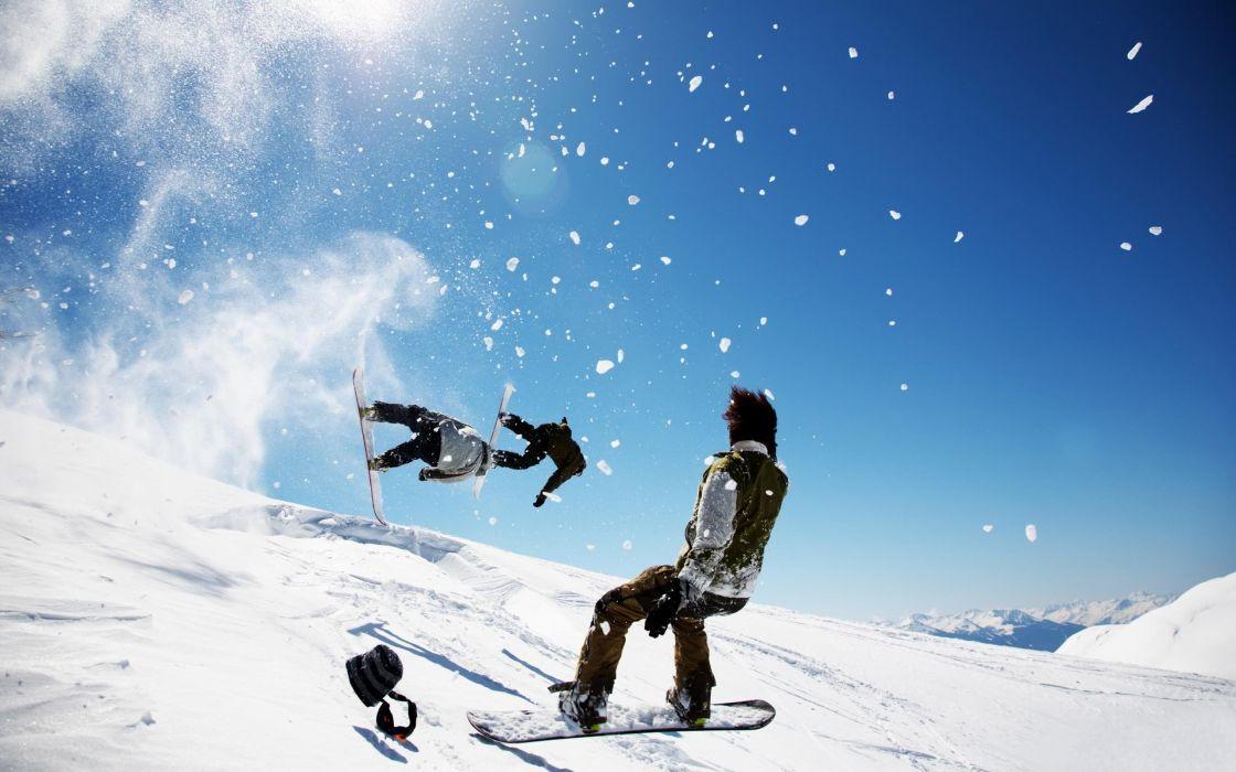 mountains sports snowboarding wallpaper
