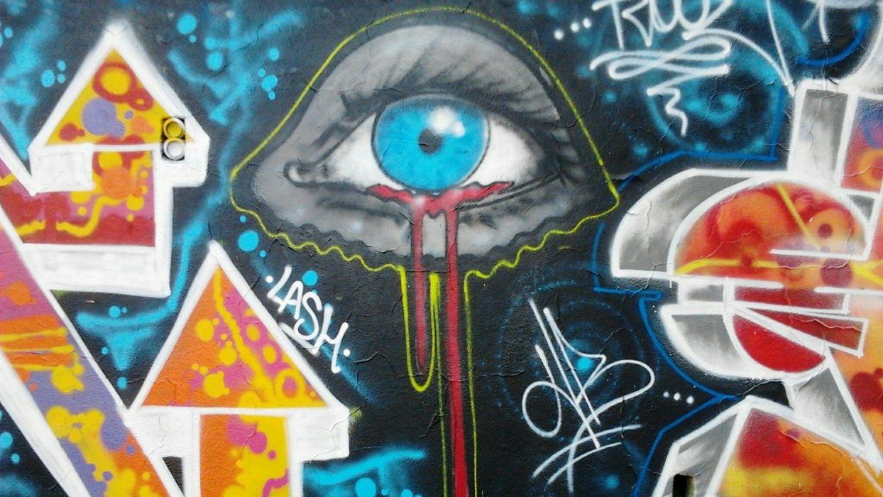 Paintings Eyes Blood Graffiti Artwork All Seeing Eye Wallpaper