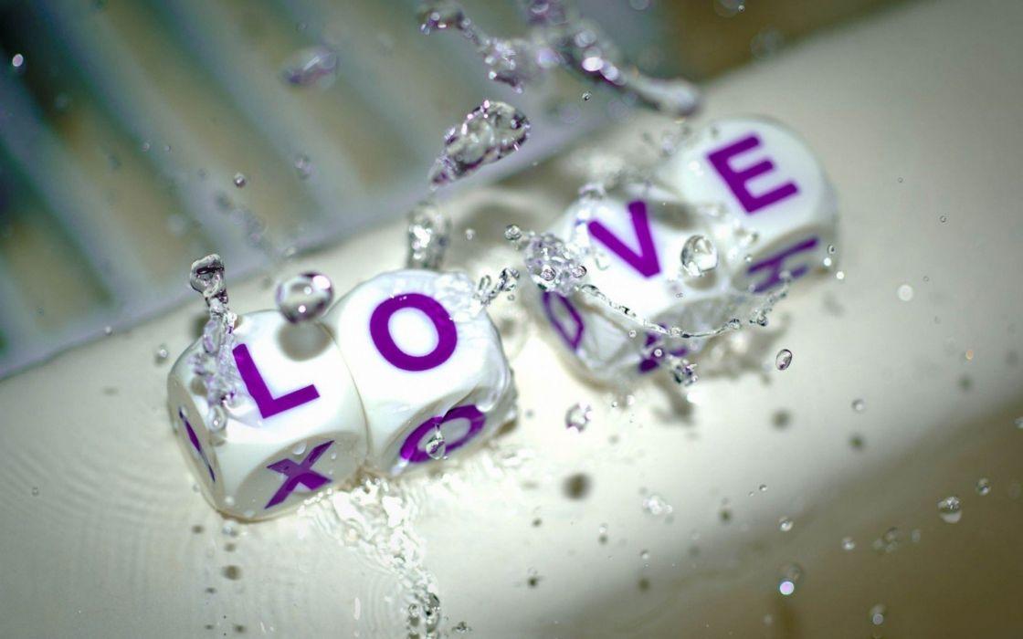 water love dice macro wallpaper
