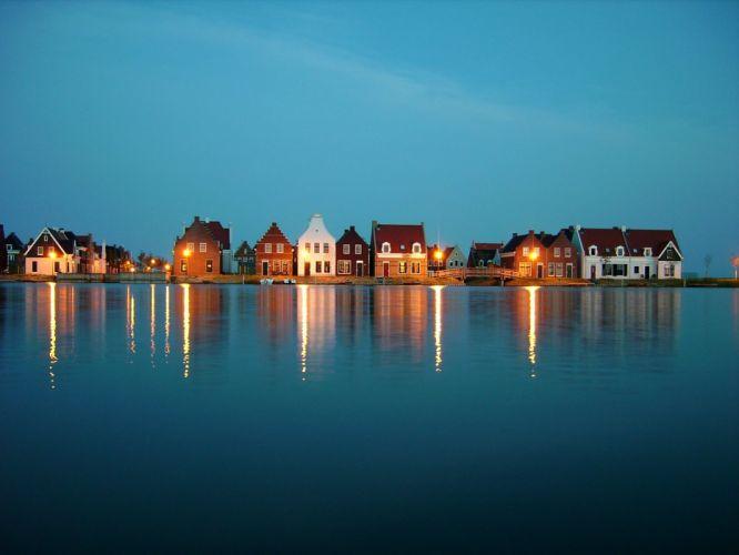 water towns panorama wallpaper