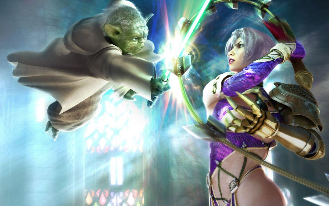 Soul Calibur Yoda Ivy Valentine wallpaper
