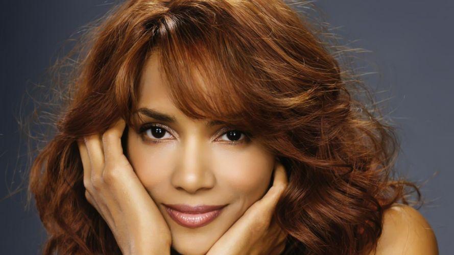 women black people actress redheads celebrity brown eyes Halle Berry wallpaper