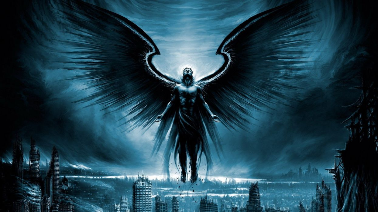 angels wings post-apocalyptic fantasy art Vitaly S Alexius Sylosis wallpaper