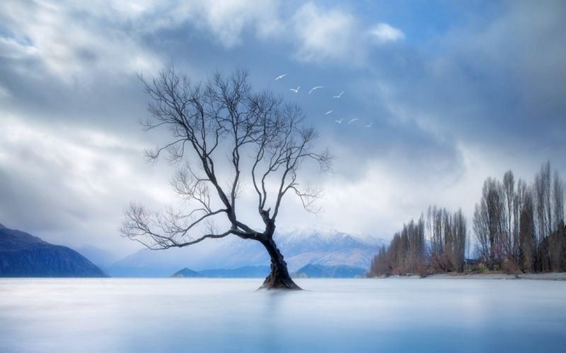 landscapes nature winter lakes wallpaper