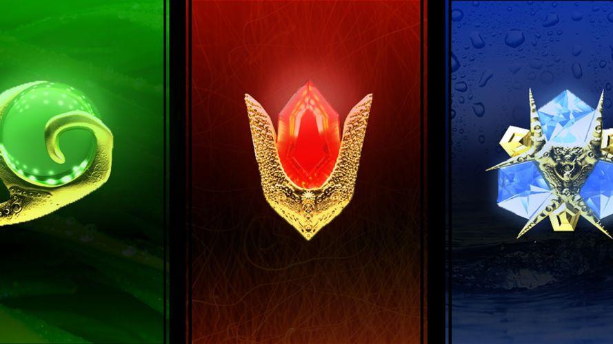 The Legend of Zelda logos wallpaper