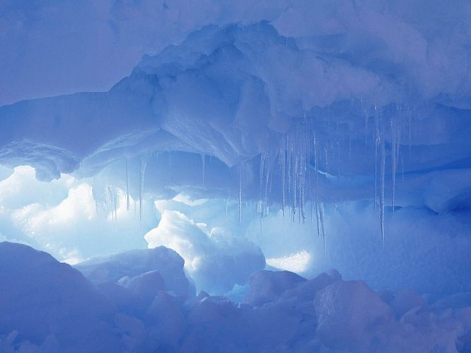 ice landscapes caves wallpaper