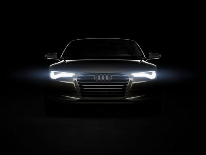 black lights Audi concept cars German cars wallpaper