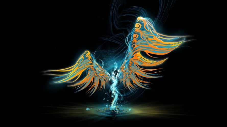 abstract wings wallpaper