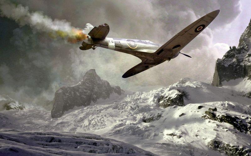 aircraft Supermarine Spitfire wallpaper