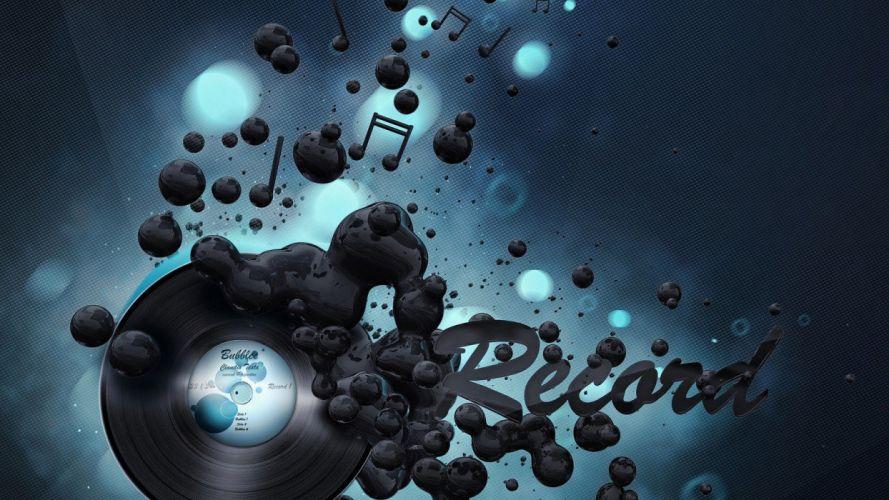 abstract music record vinyl sound digital art wallpaper