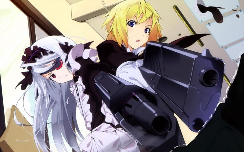 Infinite Stratos Dunois Charlotte Bodewig Laura wallpaper