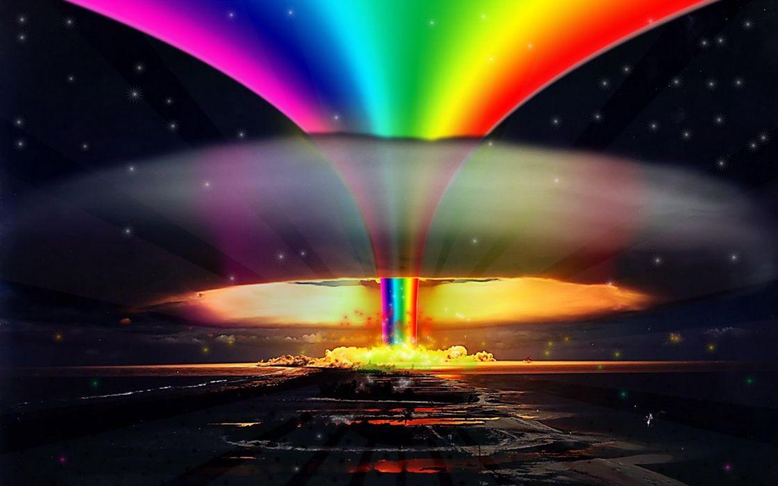 multicolor explosions pride rainbows selective coloring gay wallpaper