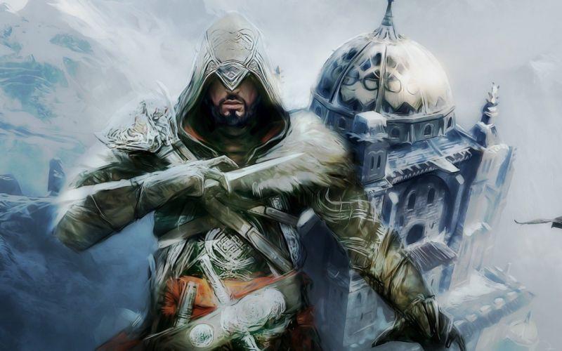 assassin Assassins Creed artwork Assassins Creed Revelations revelations hidden blade Ezio Auditore da Firenze wallpaper
