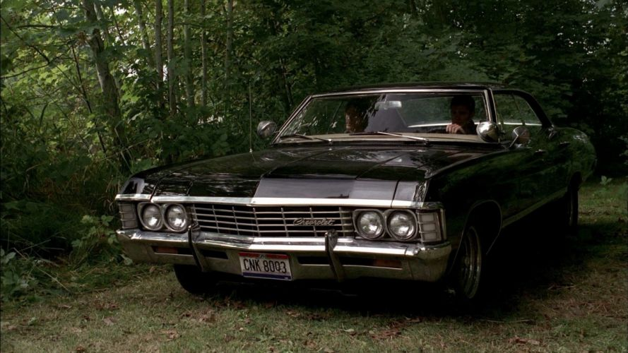 landscapes Supernatural black trees forests cars scenic vehicles Jared Padalecki TV series Dean Winchester Chevrolet Impala Sam Winchester wallpaper