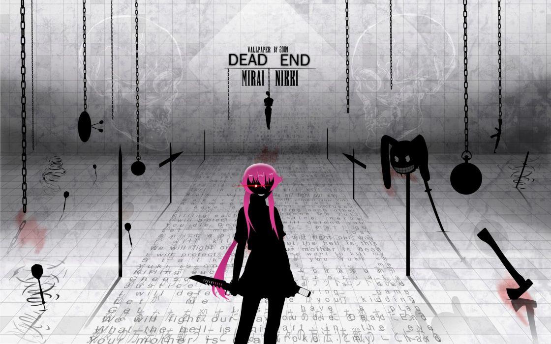dead anime anime girls Mirai Nikki Gasai Yuno wallpaper