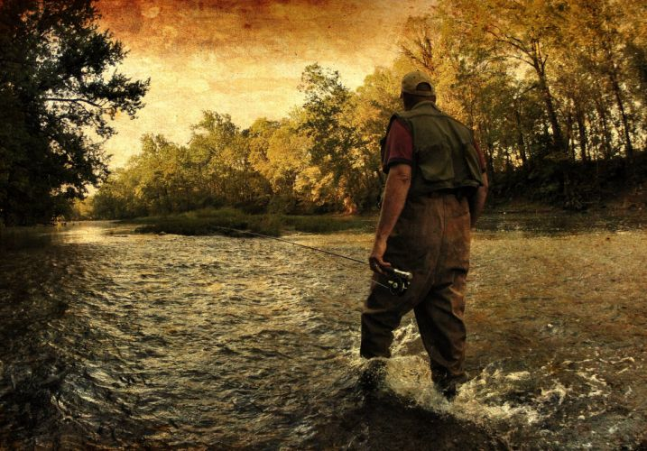 FISHING fish sport water fishes river autumn hdr wallpaper