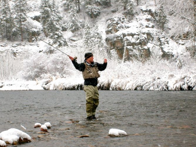 FISHING fish sport water fishes river winter wallpaper