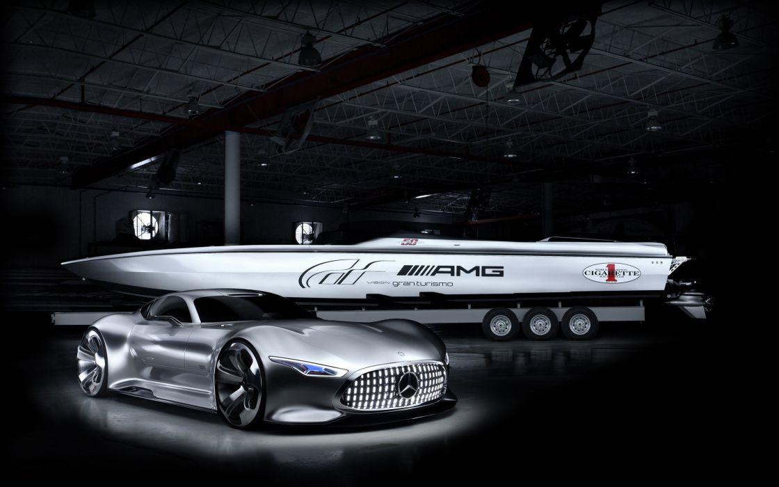 mercedes benz amg cigarette racing vision gt concept-wide wallpaper