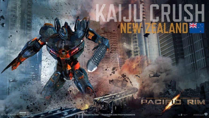 kaiju crush in pacific rim-HD wallpaper