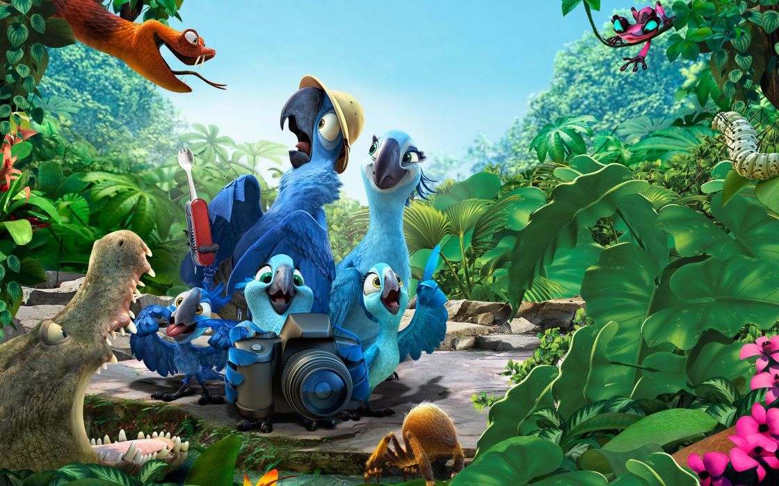 2014 rio 2 movie-wide wallpaper